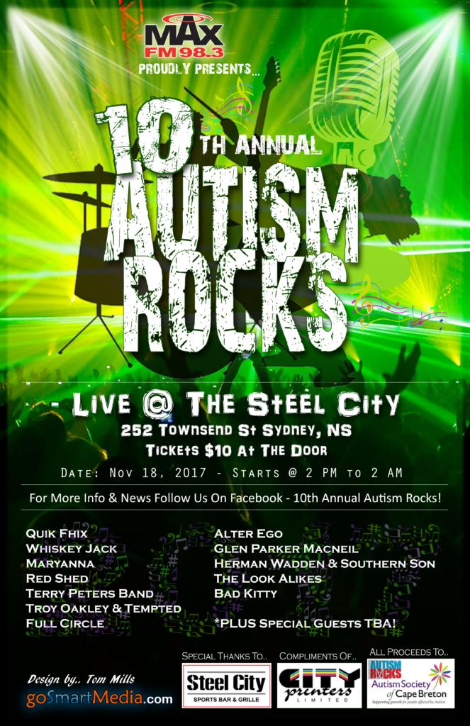 Autism Rocks 2017 Poster