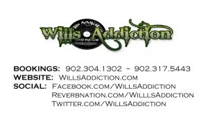 wills addiction business card